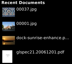 gnome-shell-recent-documents